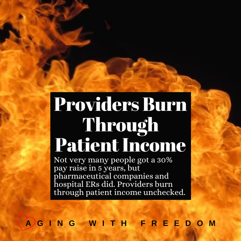 Providers burn through patient income