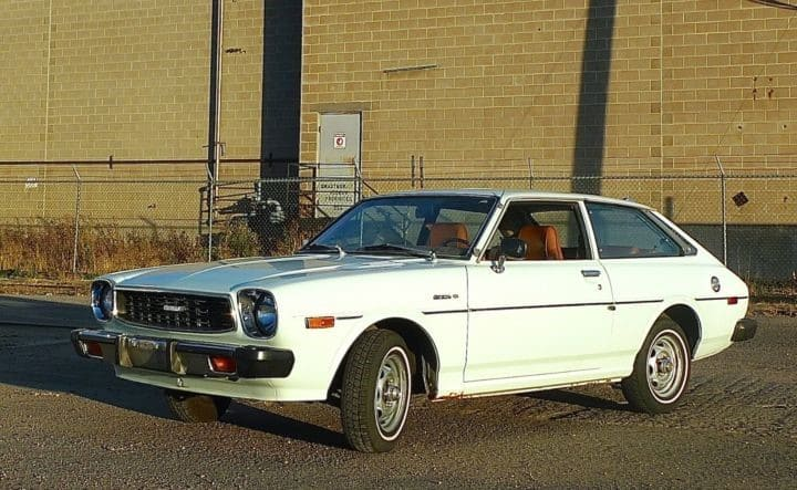 1976 Toyota Corolla SR-5 Liftback, a classic RWD economy car from college days.