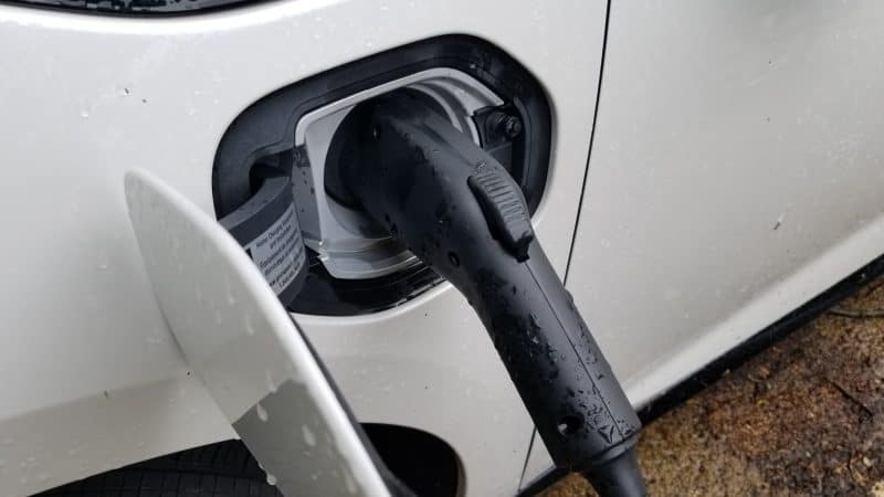 Electric Charging plug in a Plug-in Hybrid Electric Vehicle