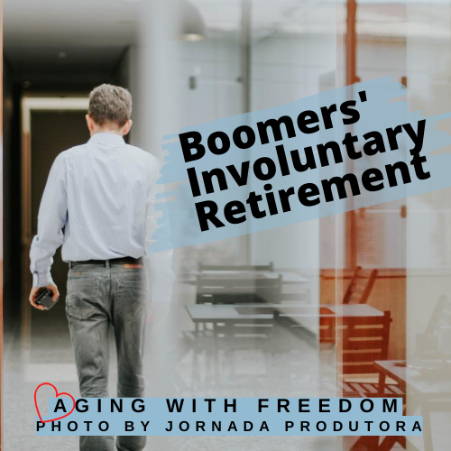 Boomers' Involuntary Retirement Man Leaving Work