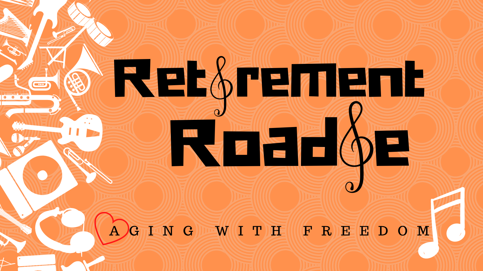 Retirement Roadie with musical notes