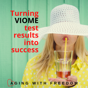 Viome Test Results woman drinking with straw
